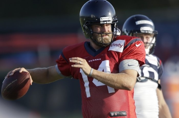Former Bills quarterback Ryan Fitzpatrick will start for the Houston Texans. (Associated Press)