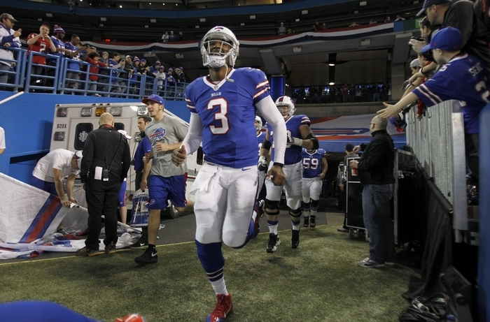 Will EJ Manuel have a higher passer rating than Ryan Fitzpatrick this season? (Harry Scull Jr./Buffalo News)