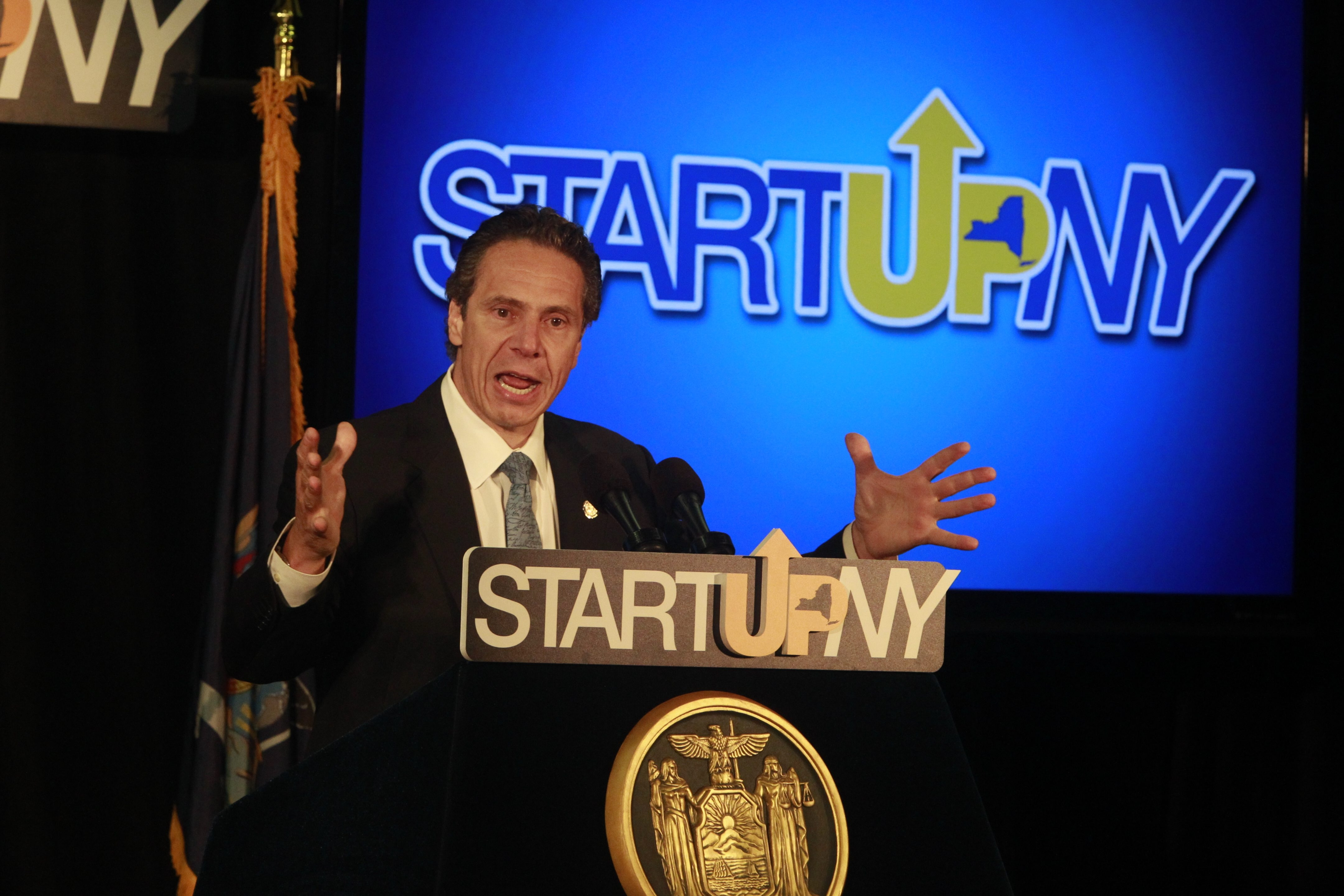 One of Gov. Andrew Cuomo's achievements is the Start-Up NY program. During a July stop in Buffalo he announced that eight local companies have been accepted into the program and are expected to create 659 jobs. (Buffalo News file photo)