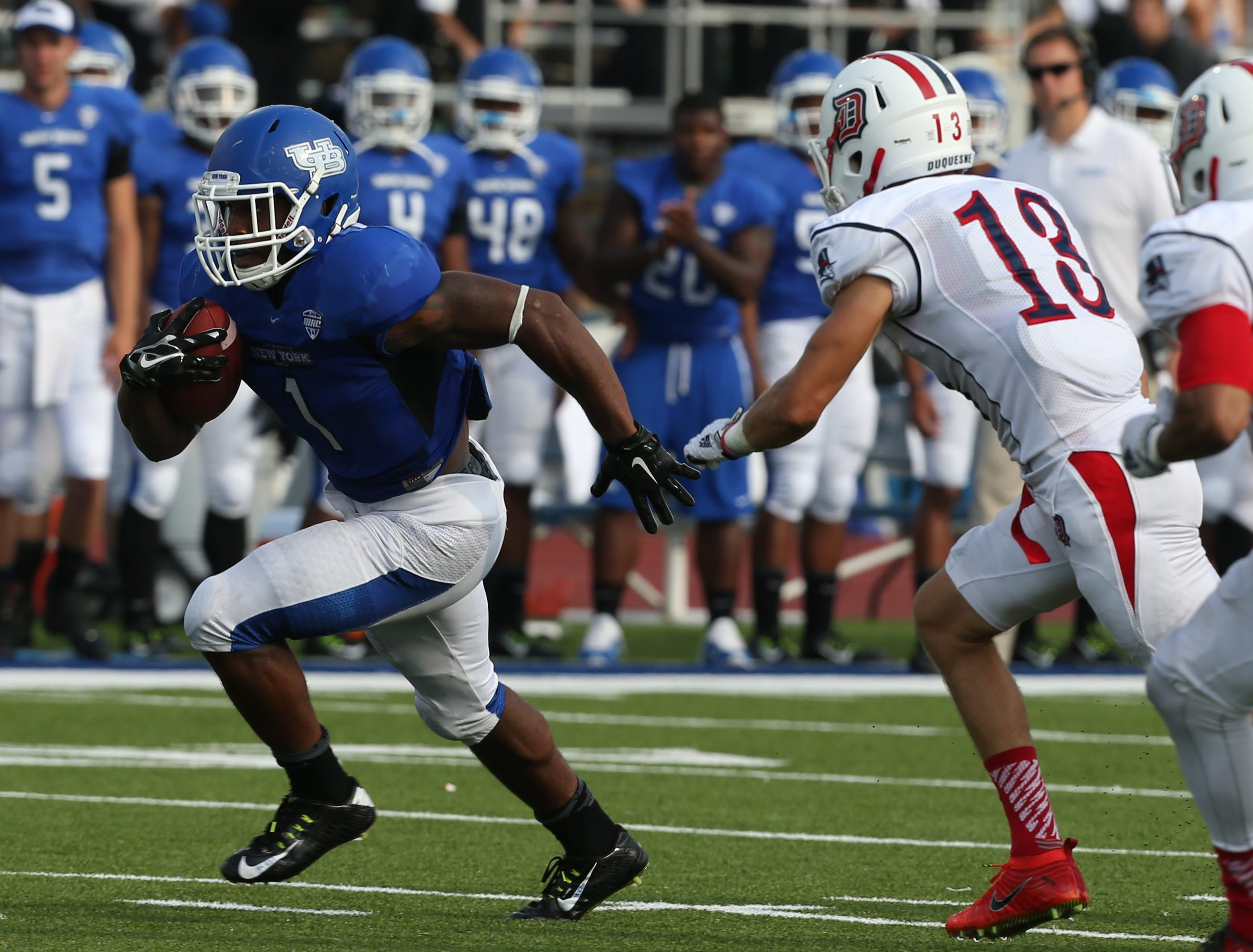 Anthone Taylor and the UB Bulls take to the road to face Army Saturday.