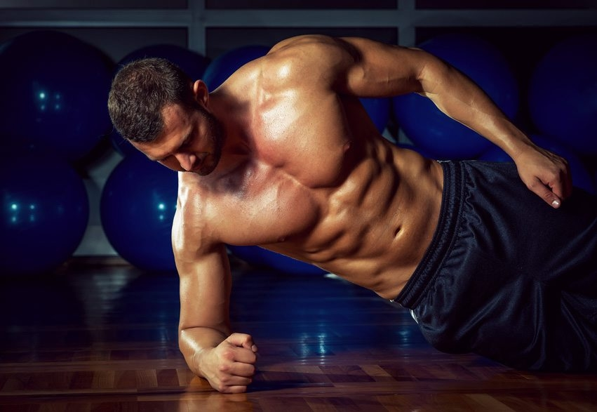 Side plank exercises will help strengthen the obliques, crucial in almost all activity.