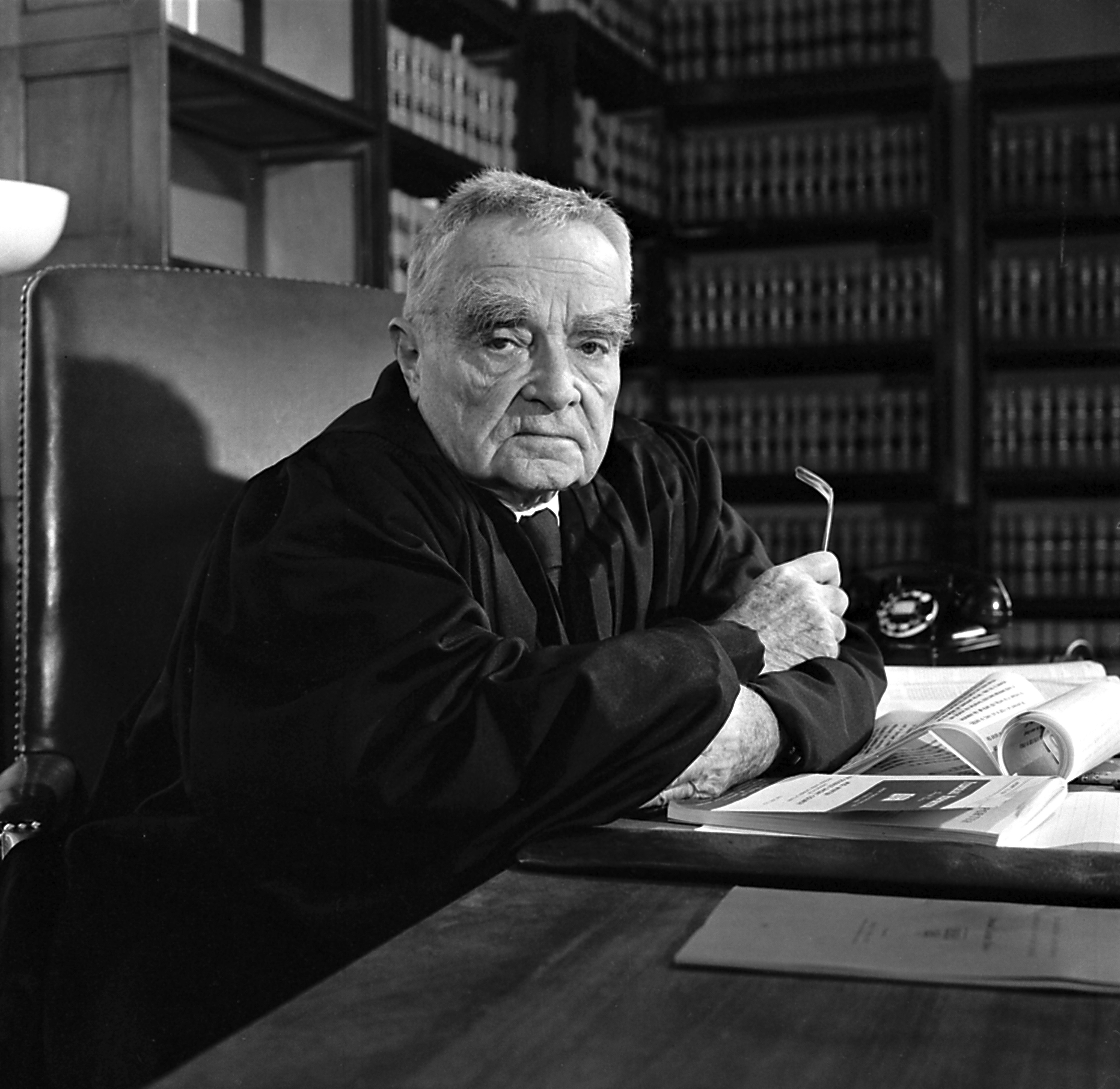 Judge Learned Hand is seen at the U.S. Courthouse in New York in 1958. Hand, the great 20th century jurist, asserted that anyone had the right to arrange their affairs to pay as little in taxes as possible.