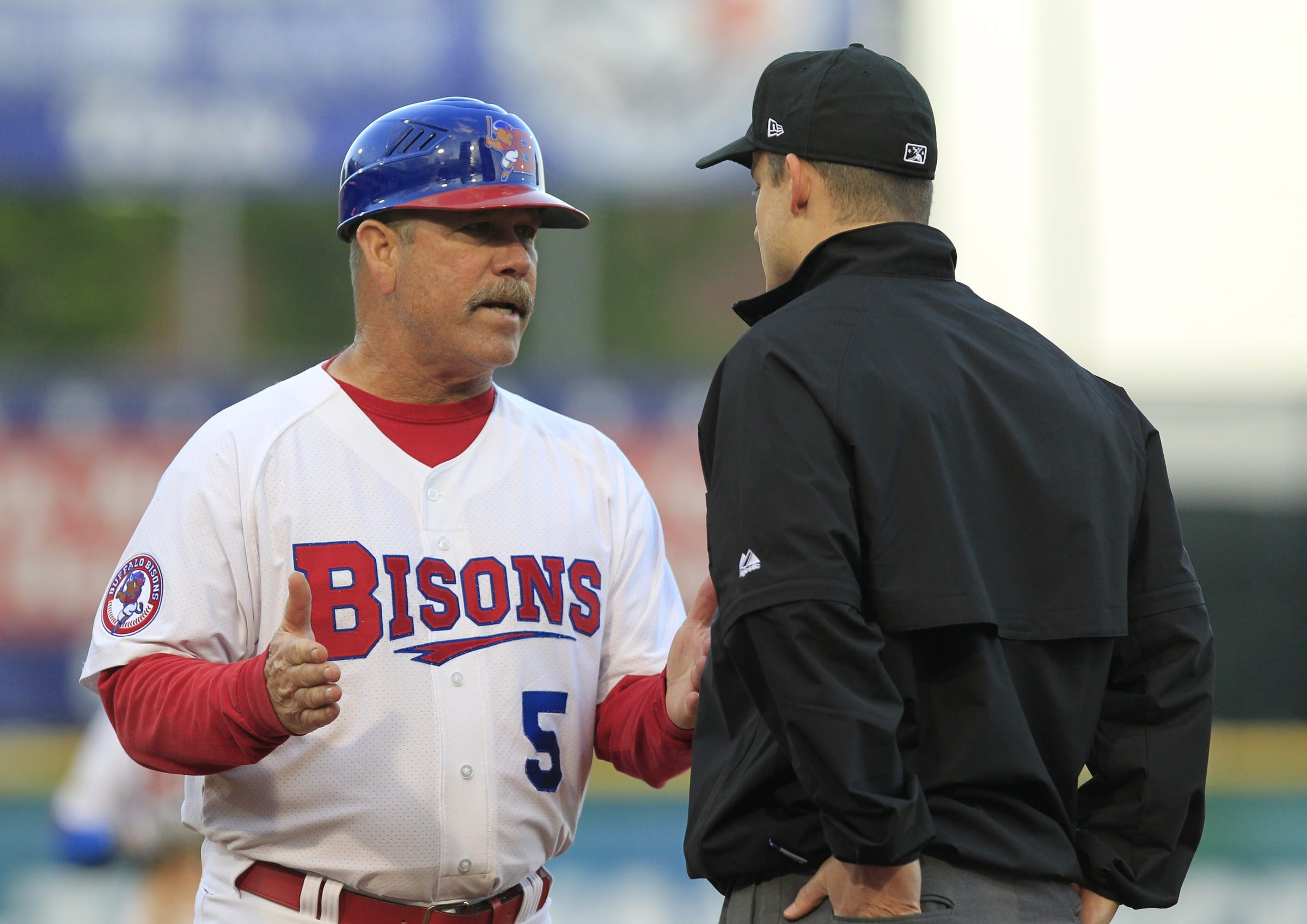 Bisons manager Gary Allenson is a no-nonsense baseball veteran who has kept the team in the playoff hunt despite 235 roster moves and a franchise-record 72 players who suited up for the Herd this season.
