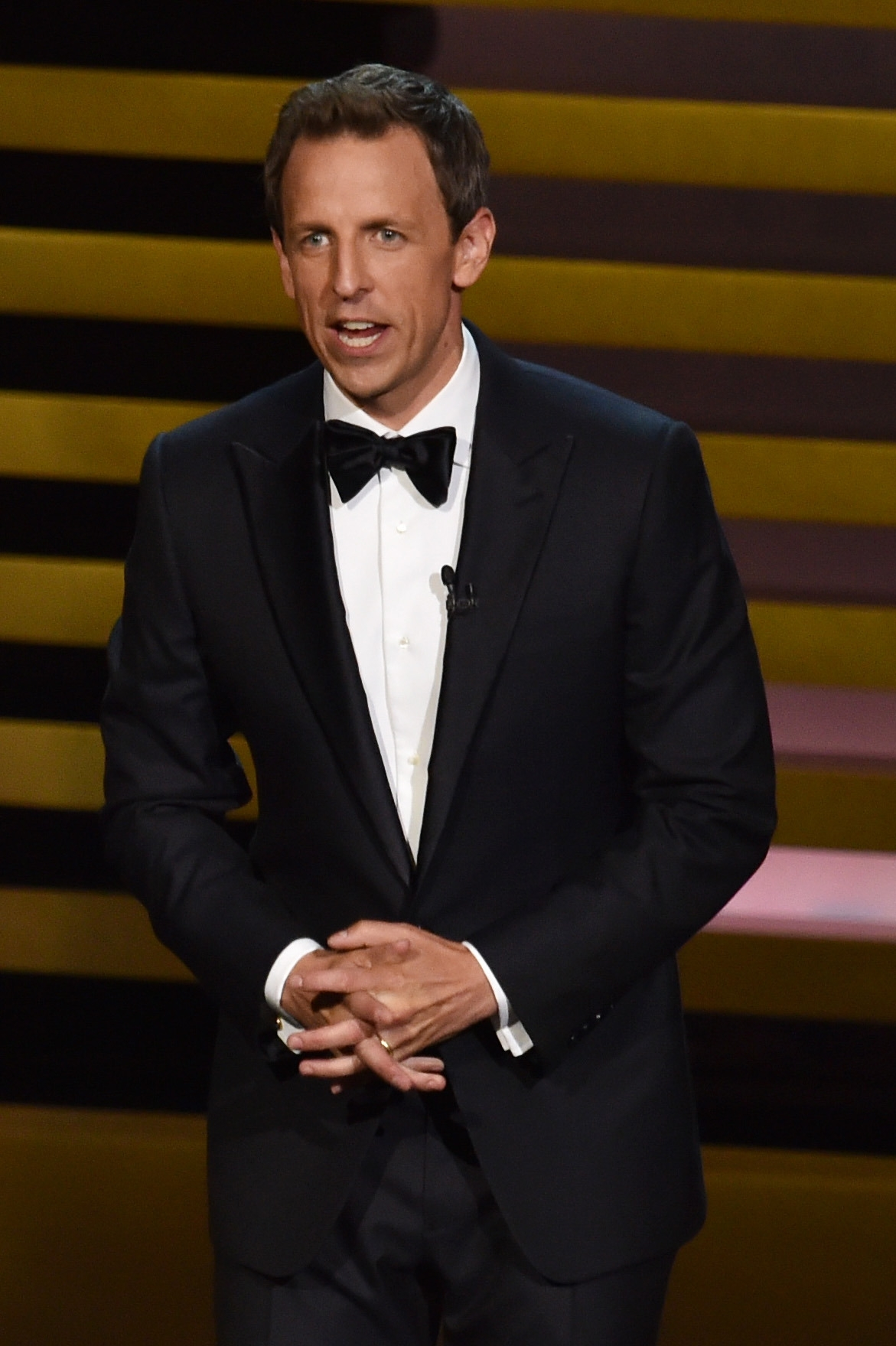 Host Seth Meyers gets good marks for his performance at Monday's Emmy broadcast.