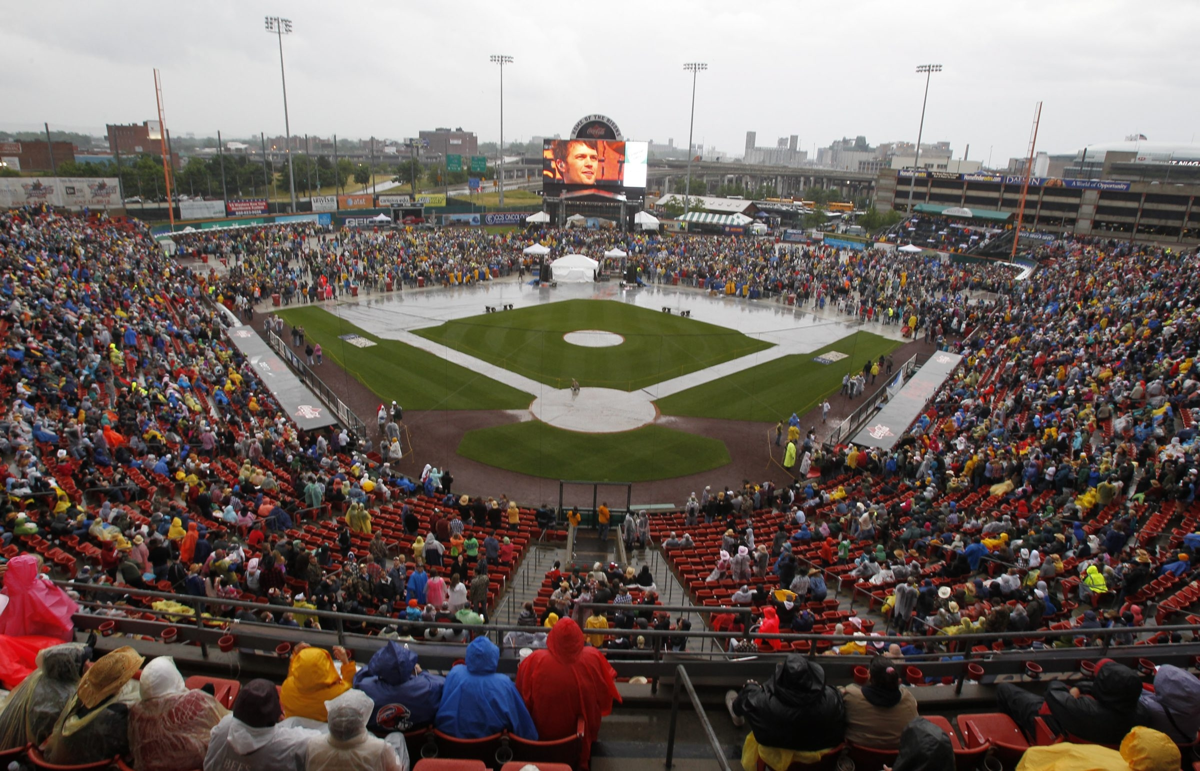 An overview of Coca-Cola Field is seen June 1, 2012.