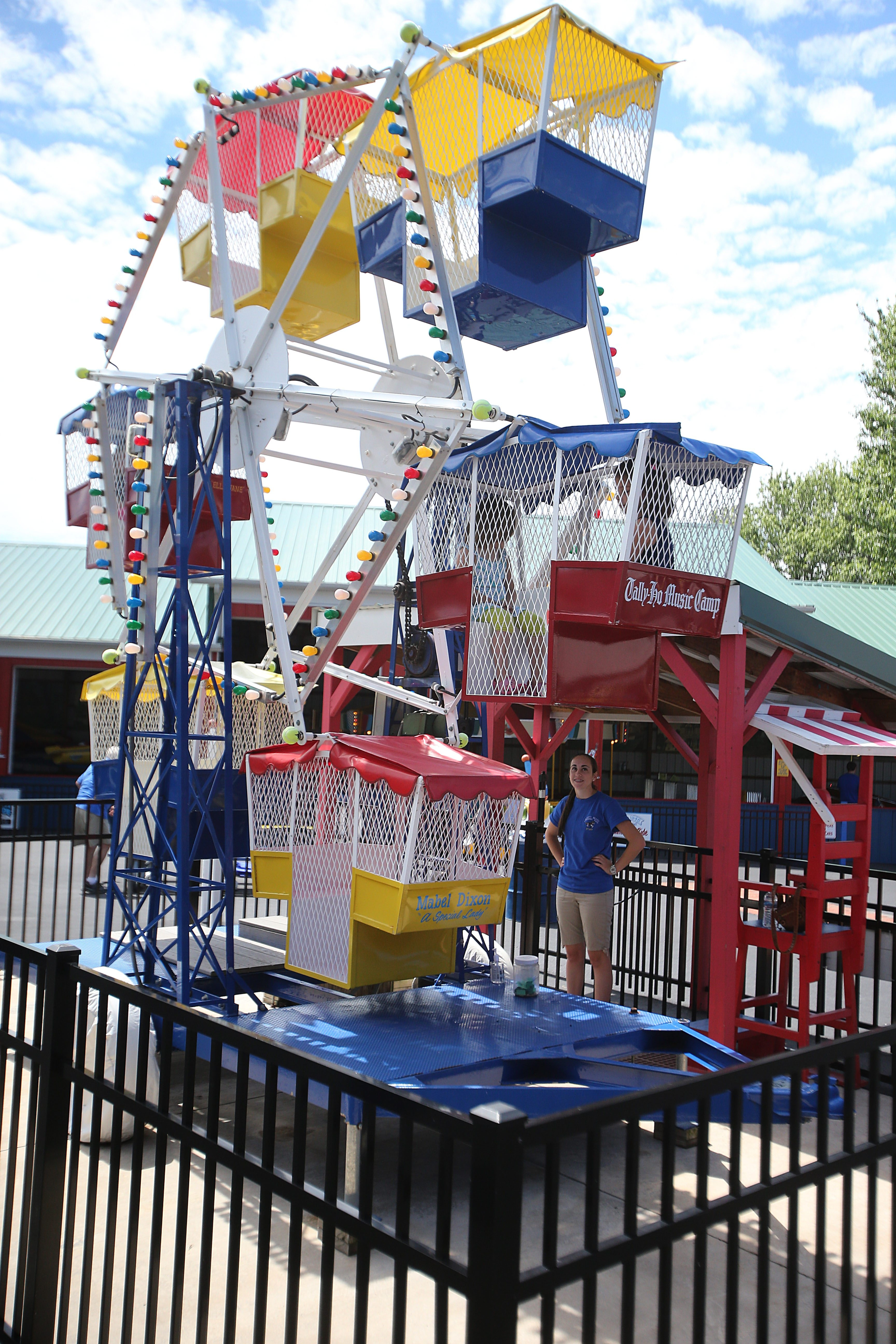The Kiddie Ferris Wheel is just one of the attractions  at the Olcott Beach Carousel Park,  which will celebrate its 12th anniversay today with a variety of events.