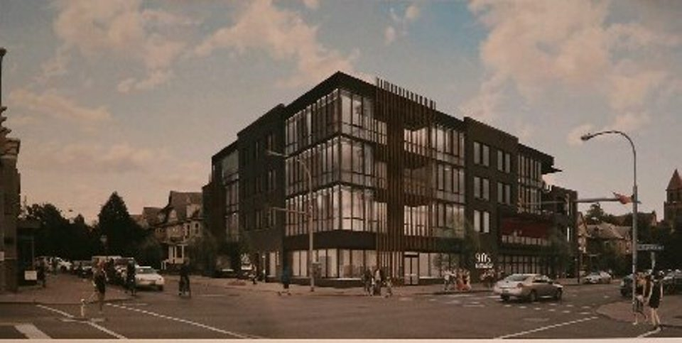 Charles Lewis/Buffalo NewsRendering of Ellicott Development mixed-used project for Elmwood and West Delavan.