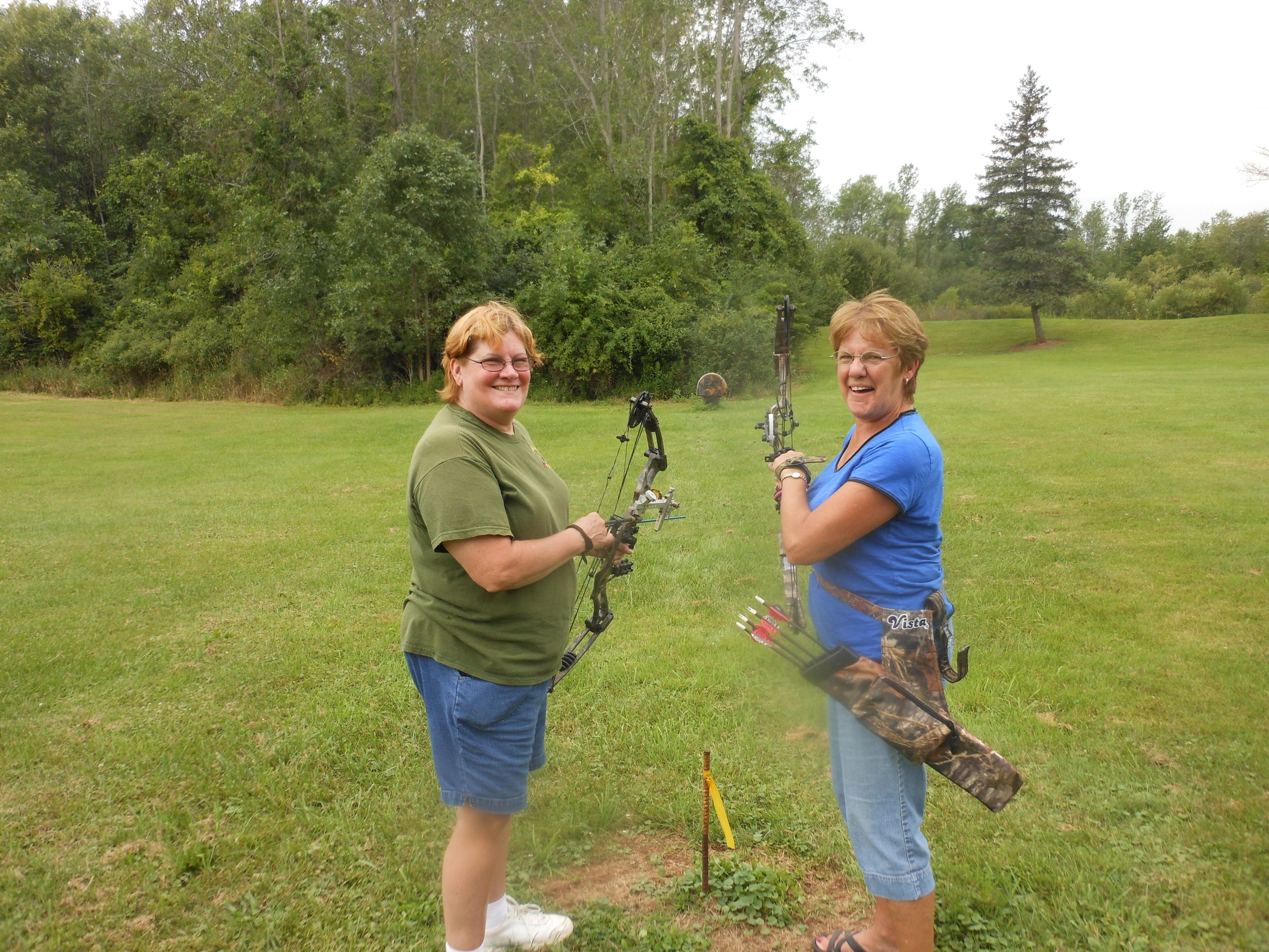 Judy Schmitt and Marge Baker finished the summer league with some impressive turkey- and bear-target shooting.
