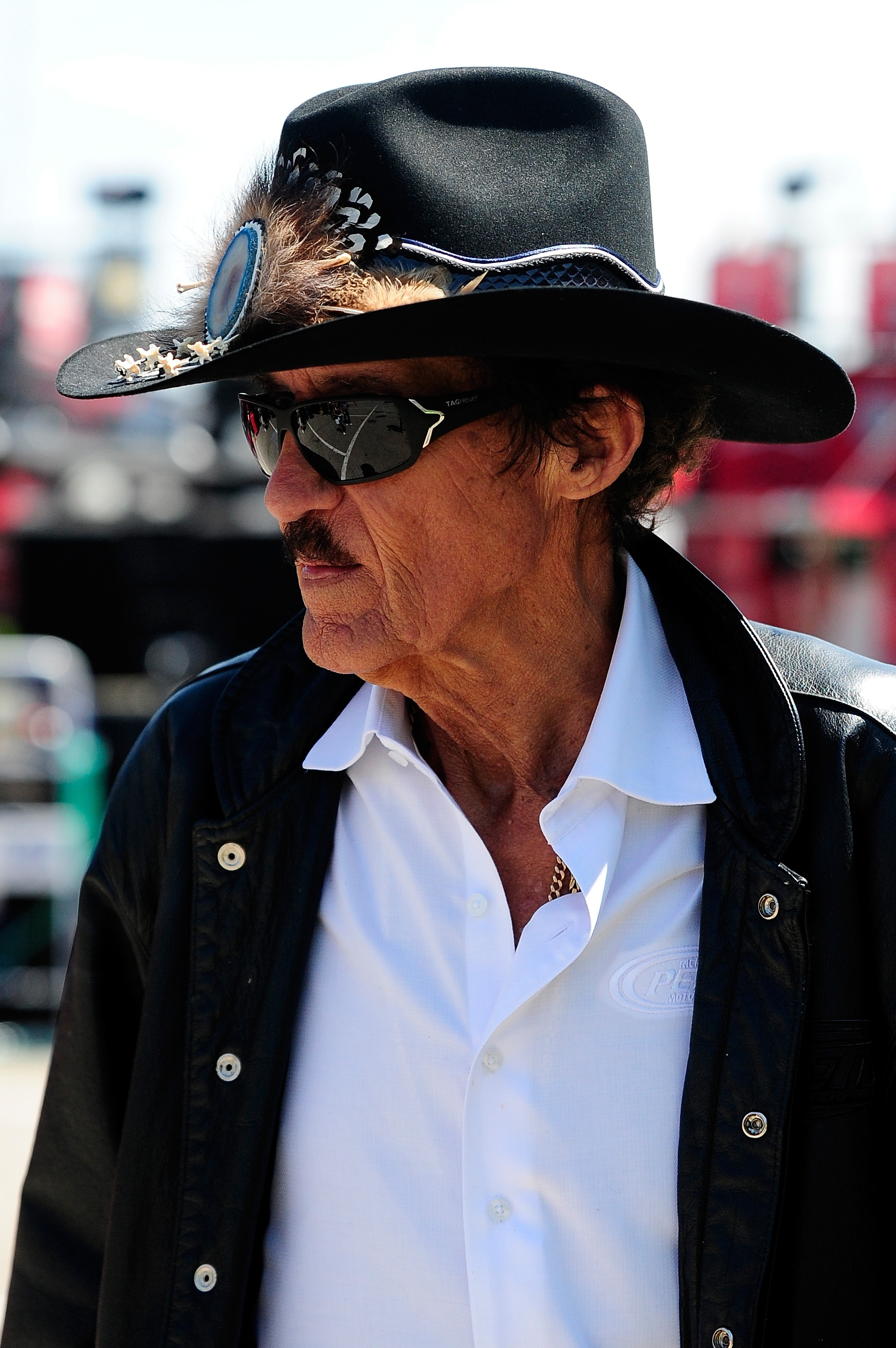Still looking for wins: NASCAR hall of famer Richard Petty was in Brooklyn, Mich., Friday, for the NASCAR Sprint Cup Series Pure Michigan 400 at Michigan International Speedway.