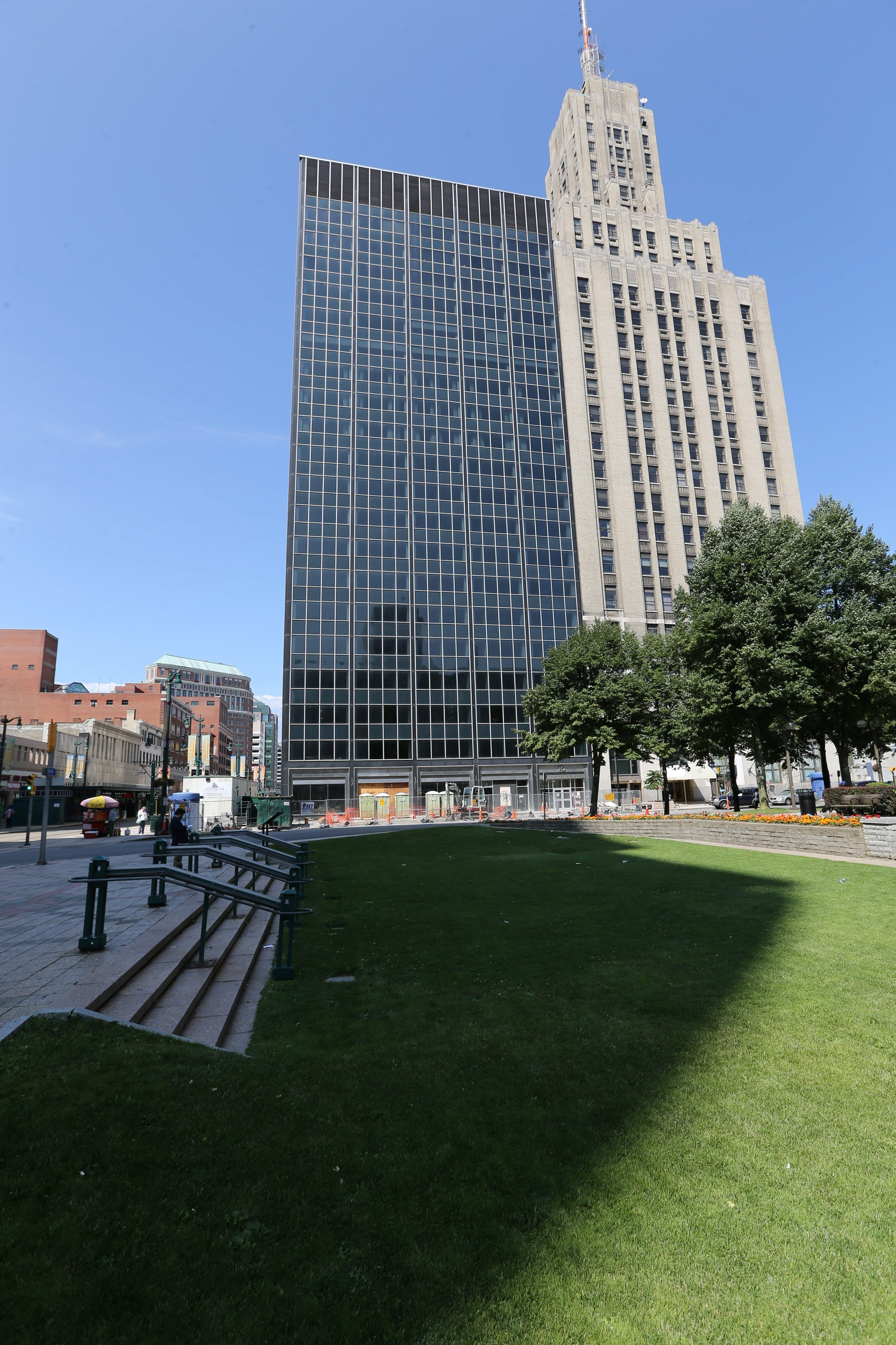 The Tishman Building now has the headquarters of its new owner, the Hamister Group, on three floors.