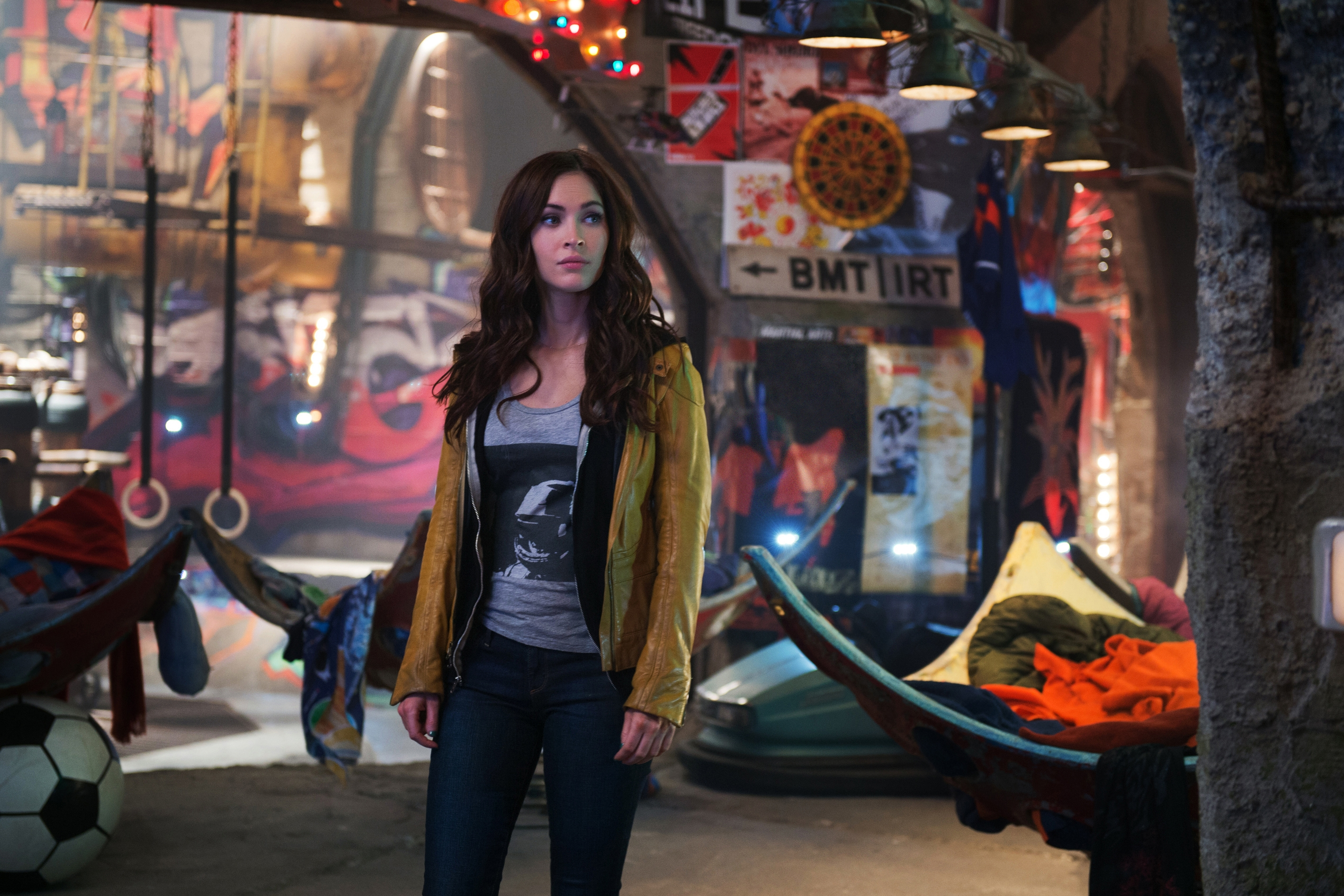 """Teenage Mutant Ninja Turtles,"" Paramount Pictures' comic book adaptation, stars Megan Fox."