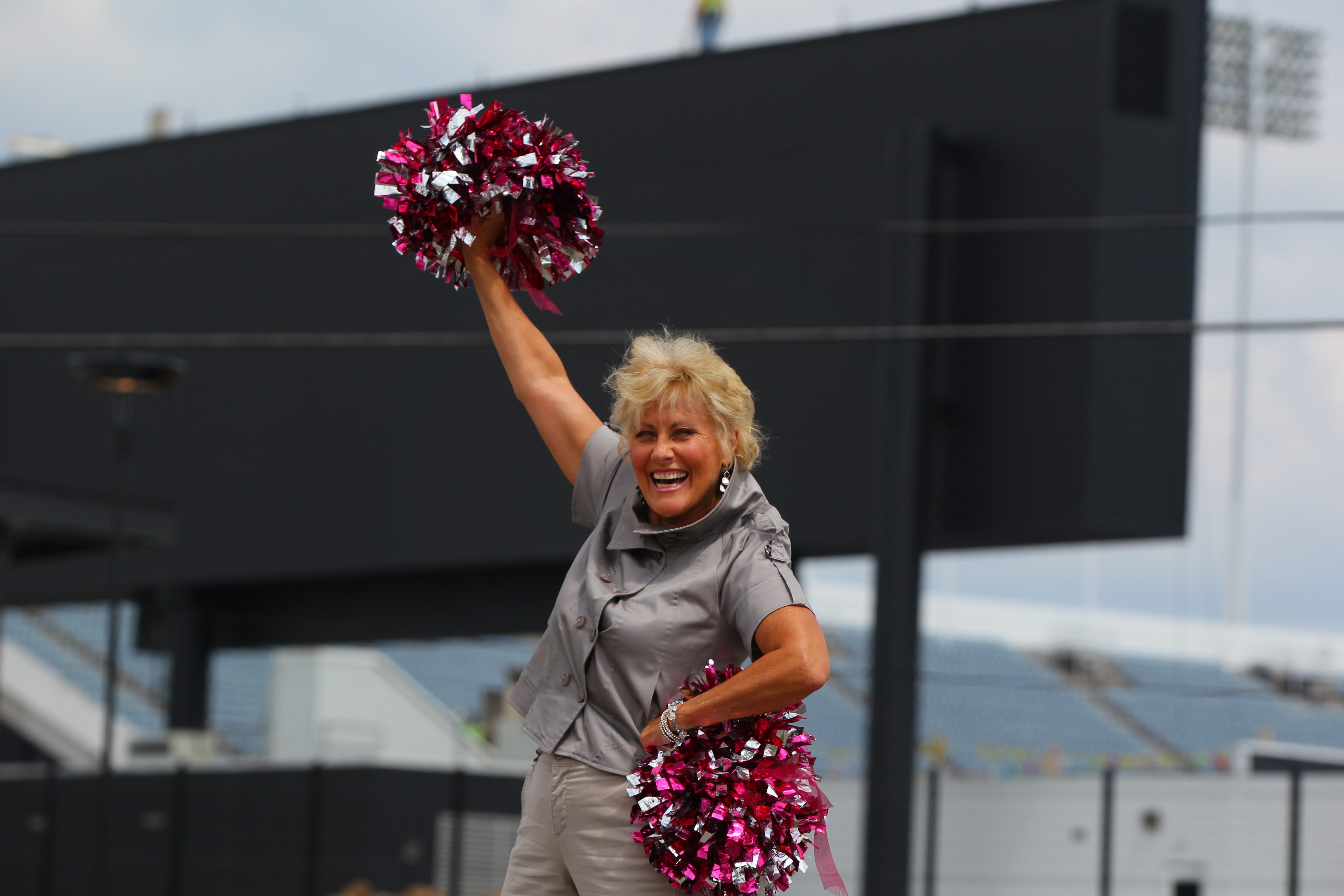 Chris Polito, photographed last week at Ralph Wilson Stadium, was a Buffalo Jills cheerleader from 1971 to 1985 and is helping to organize an NFL cheerleaders reunion here in 2016. She doesn't think the Bills will suffer this year as a result of the Jills' being sidelined.