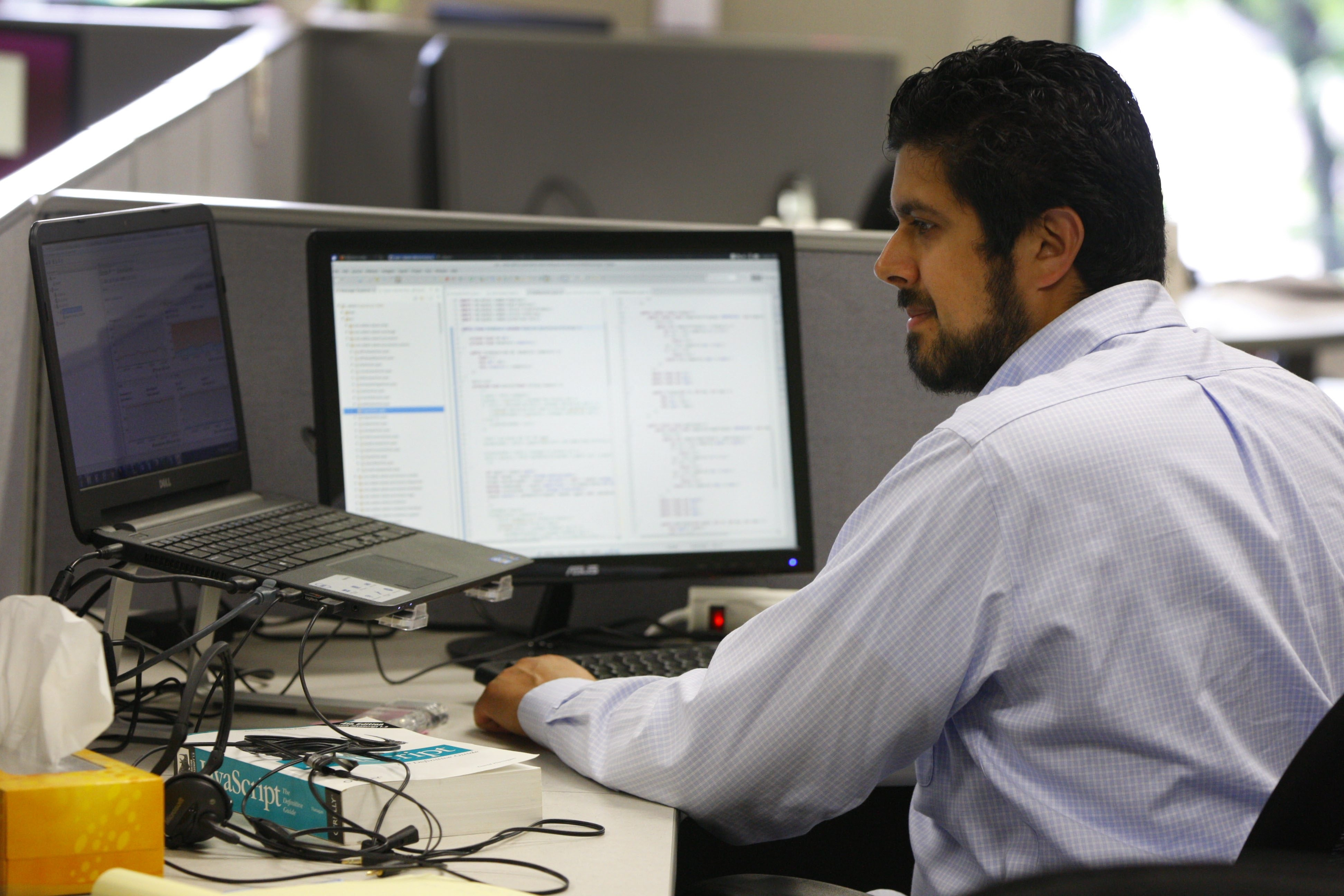 """""""The salary was definitely a factor,"""" says UB grad David Walia, lead software engineer at digital tech company Adiant in Amherst."""