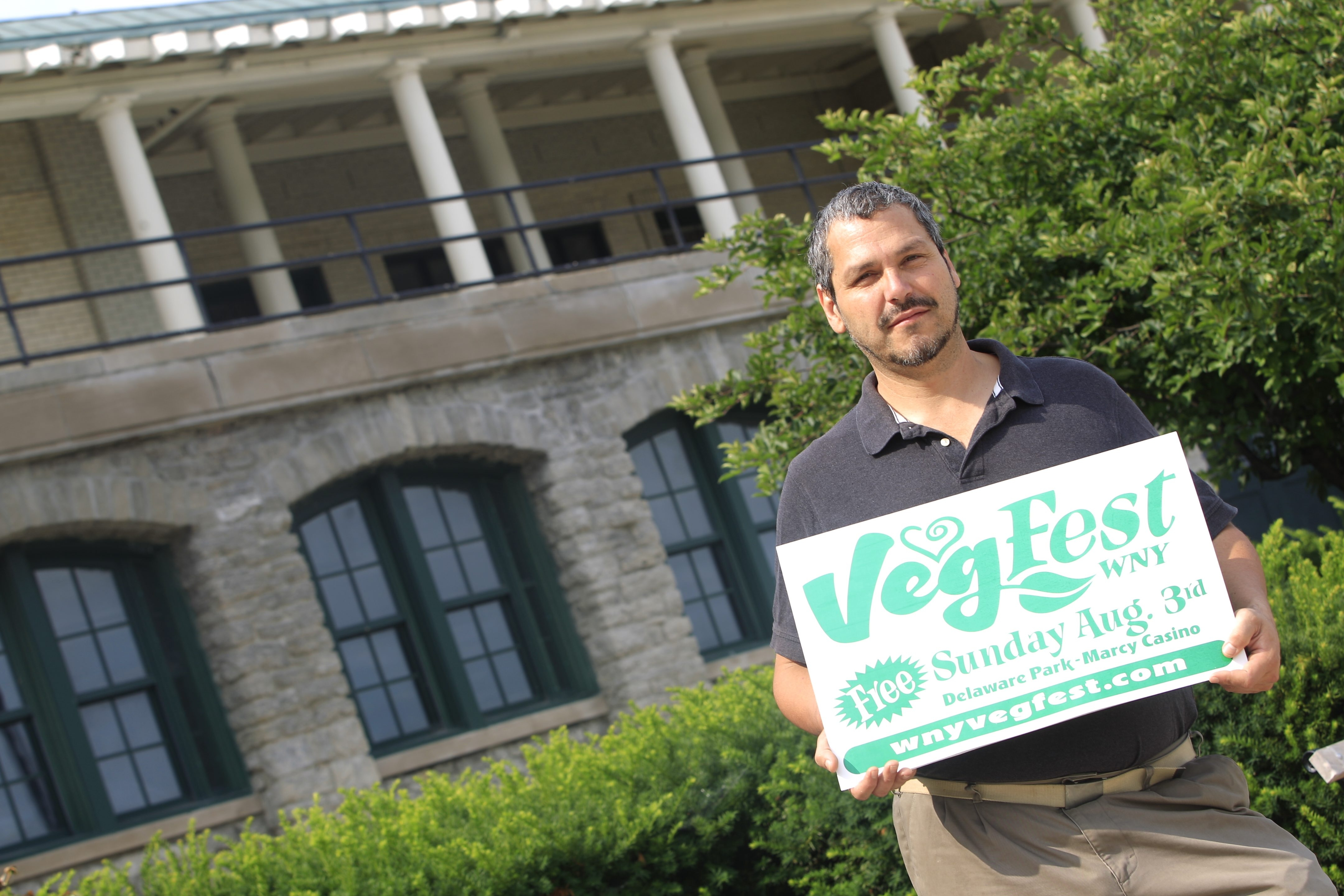Albert Brown, founder of VegFest, looks forward to eating some tofu dishes at the festival, which takes place on Sunday.