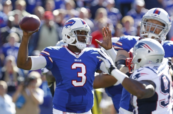 Former Bills GM Bill Polian thinks EJ Manuel is starting over because he lost so much playing time last season. (Harry Scull Jr. / Buffalo News)
