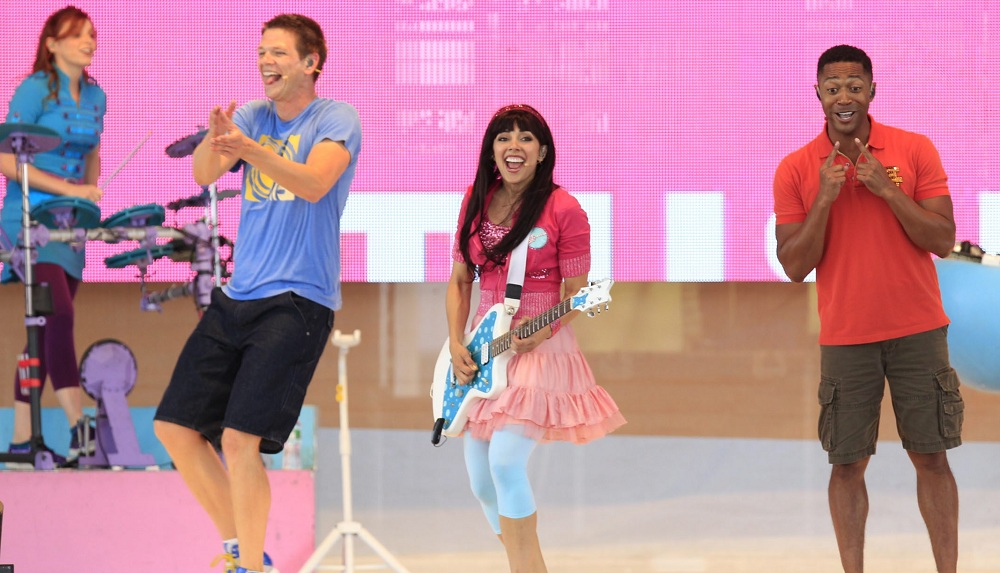 The Fresh Beat Band performs at Darien Lake on Wednesday, Aug. 27, 2014.  (Harry Scull Jr./Buffalo News)