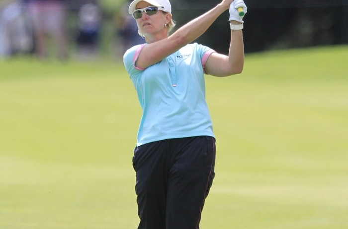 Karrie Webb, at the LPGA Championship Thursday, is savoring every moment on tour.
