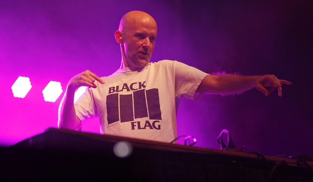 Moby was the featured performer at Thursday's Canalside concert, Thursday, Aug. 14, 2014.  (Sharon Cantillon/Buffalo News)