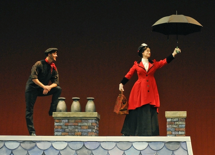 "John Barsoian and Emilie Renier star in Artpark's big, brash, energetic production of ""Mary Poppins."""