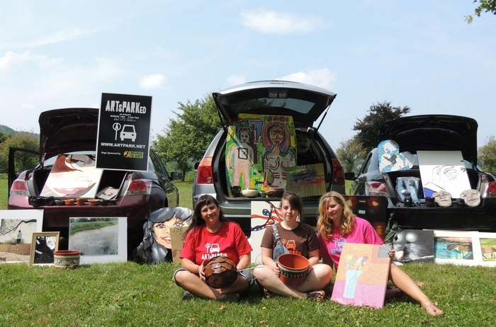 Artists will sell work out of the trunks of their cars during ArtsParked at Artpark in Lewiston.