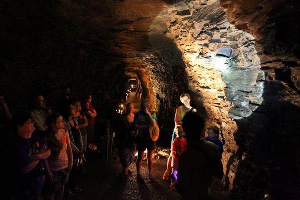 """The producers of """"Sharknado 2: The Second One"""" used the Lockport caves as filming locations. (Mark Mulville / Buffalo News)"""