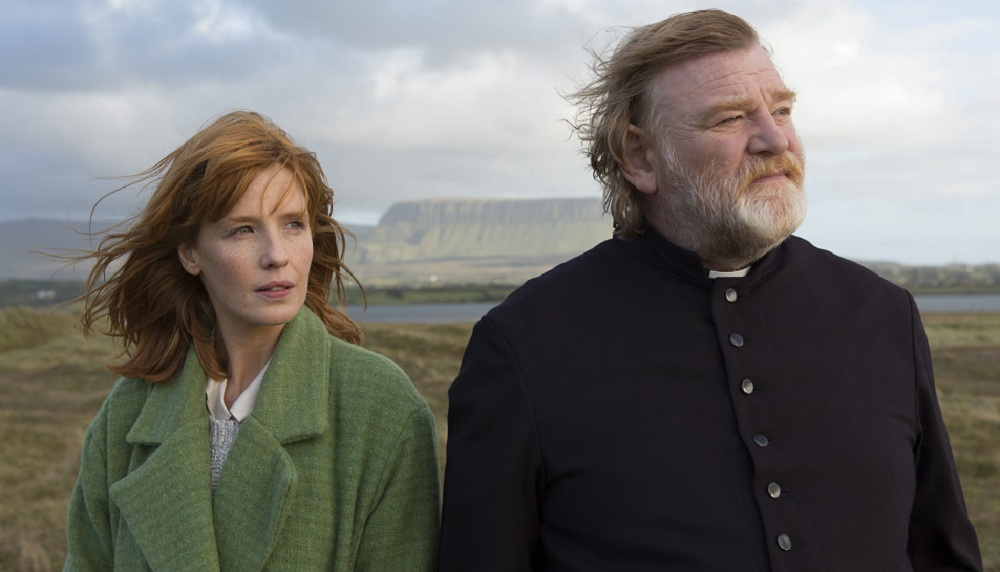 "Kelly Reilly and Brendan Gleeson star in ""Calvary."""