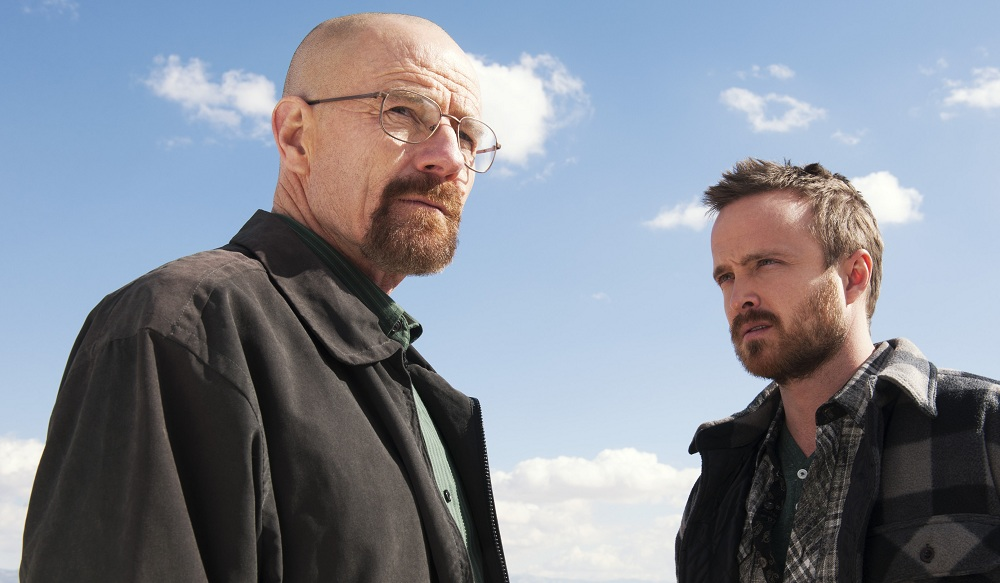 """Bryan Cranston, left, star of AMC's """"Breaking Bad,"""" has a shot at the Emmy Award for Drama/Best Actor. (Associated Press)"""