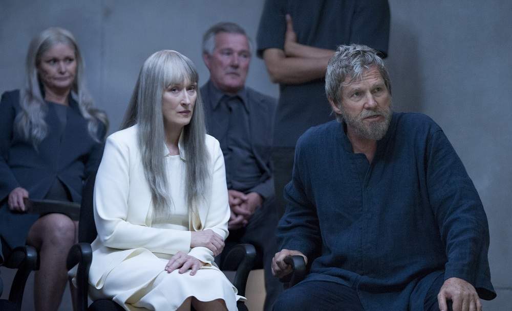 """Meryl Streep, left, and Jeff Bridges in a scene from """"The Giver."""" (Associated Press)"""
