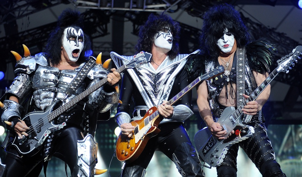 As expected, Kiss' usual theatrics — like these from June 2013 — were on display at Darien Lake. (Associated Press)