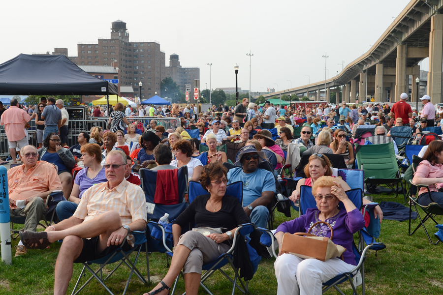 Spectators at Canalside enjoyed a free show by the Buffalo Philharmonic Orchestra. (Nancy J. Parisi / Special to the News)