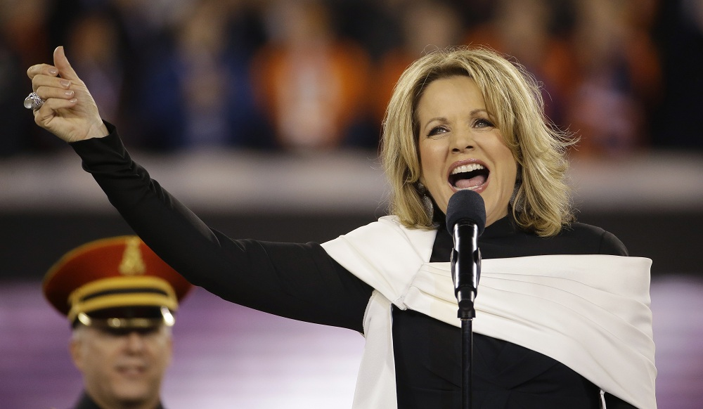 Fleming sang the National Anthem before Super Bowl XLVIII in February 2014. (Associated Press)
