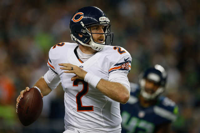 Jordan Palmer was released by the Chicago Bears on Sunday. (Getty Images)