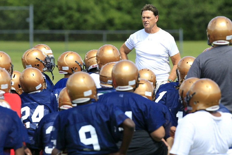 Sweet Home and coach John Faller will again be part of Lockport's six-team practice on Scrimmage Saturday. (Harry Scull Jr./Buffalo News)
