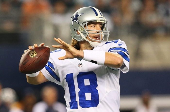 Kyle Orton, released by Dallas, is getting a crash course of the Bills' offense after being signed on Saturday. (Getty Images)