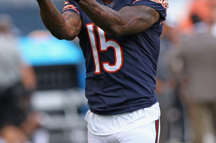 Bears receiver Brandon Marshall will give the Bills' defensive backs plenty to worry about on Sunday. (Getty Images)