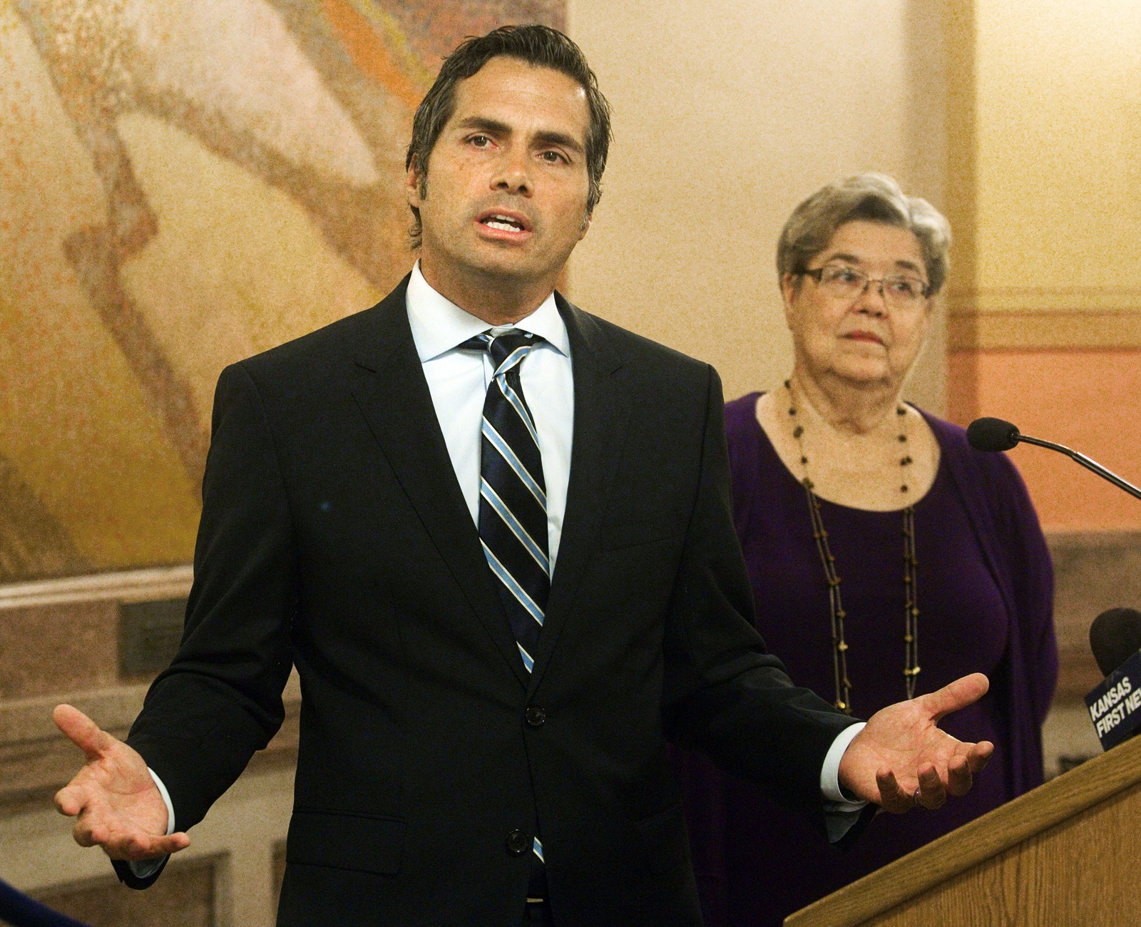 Independent Senate candidate Greg Orman was endorsed by Traditional Republicans for Common Sense on Wednesday over incumbent Republican Pat Roberts and Democratic nominee Chad Taylor, who is leaving the race.