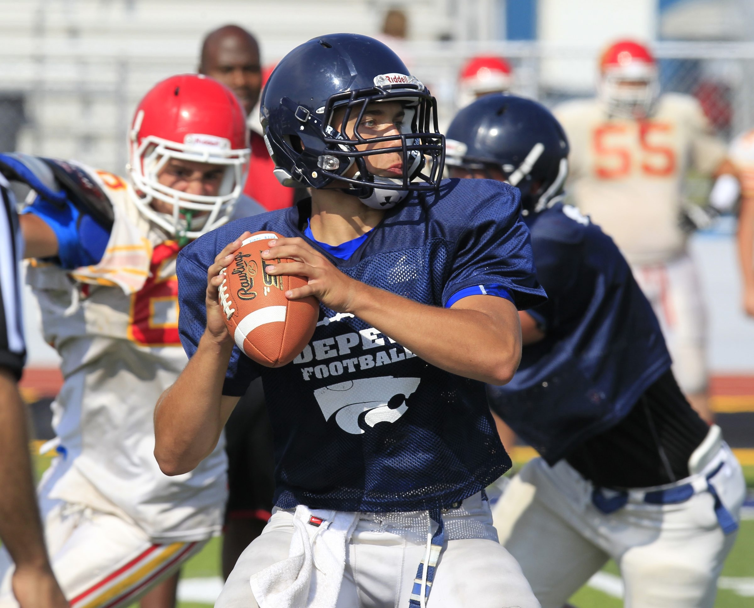 Quarterback Dylan Sekuterski and Depew take to the road to try and make it back-to-back wins over Alden.