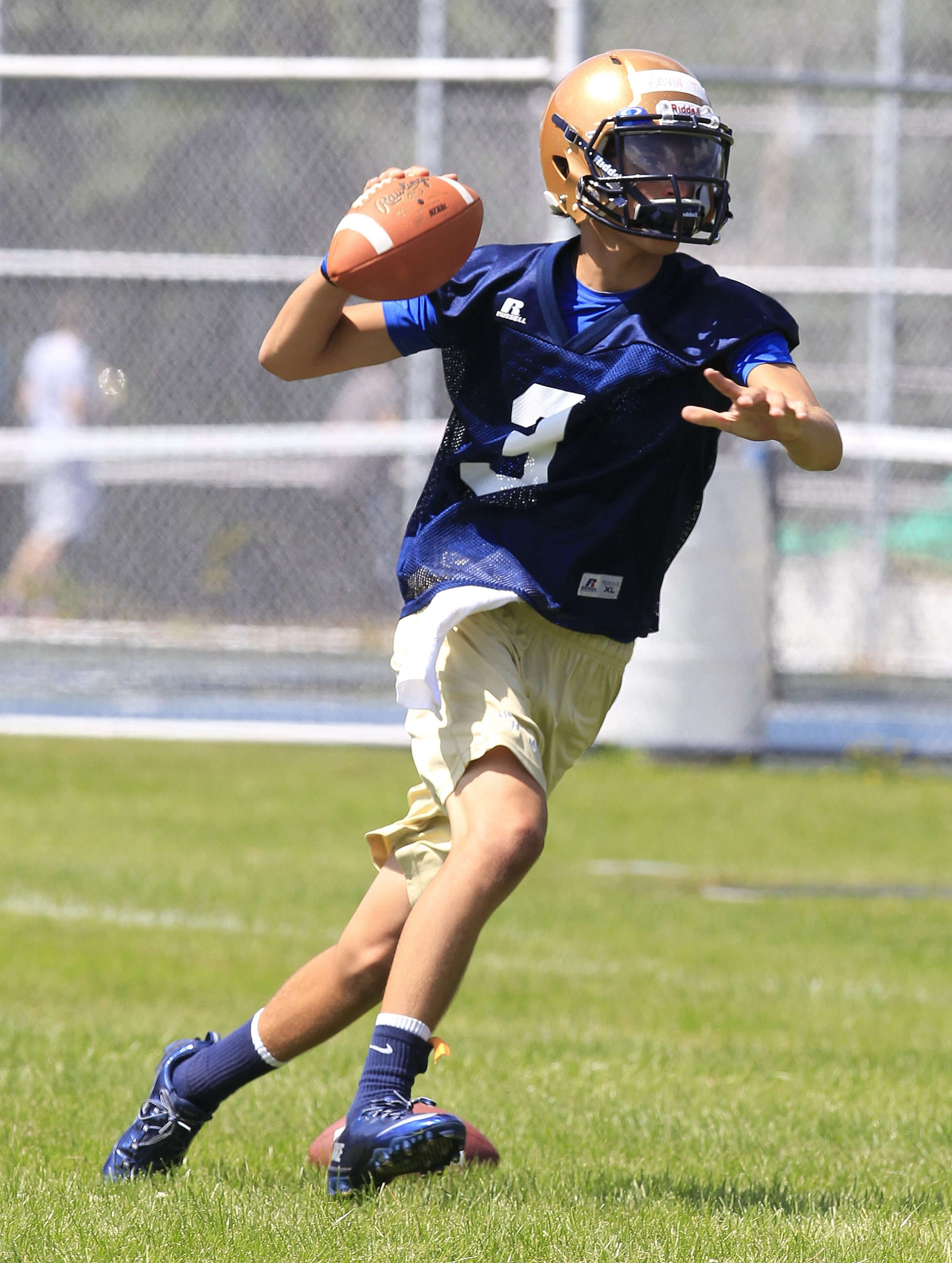 Sweet Home quarterback, KevinTorrillo during practice on Monday, Aug. 18, 2014.  (Harry Scull Jr/Buffalo News)