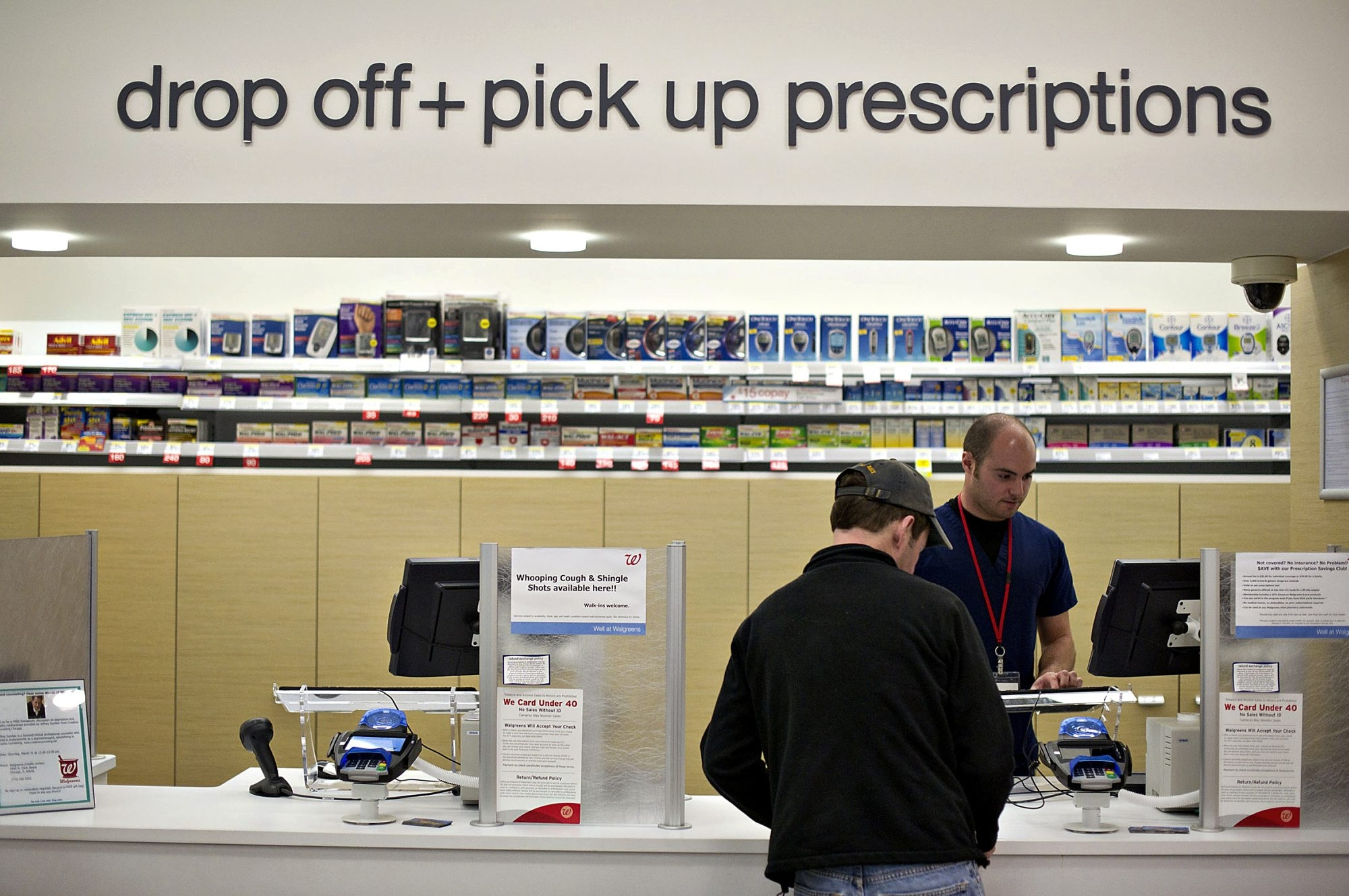 The Walgreens arrangement with BlueCross BlueShield went into effect Monday and includes more than 8,000 locations in the country.