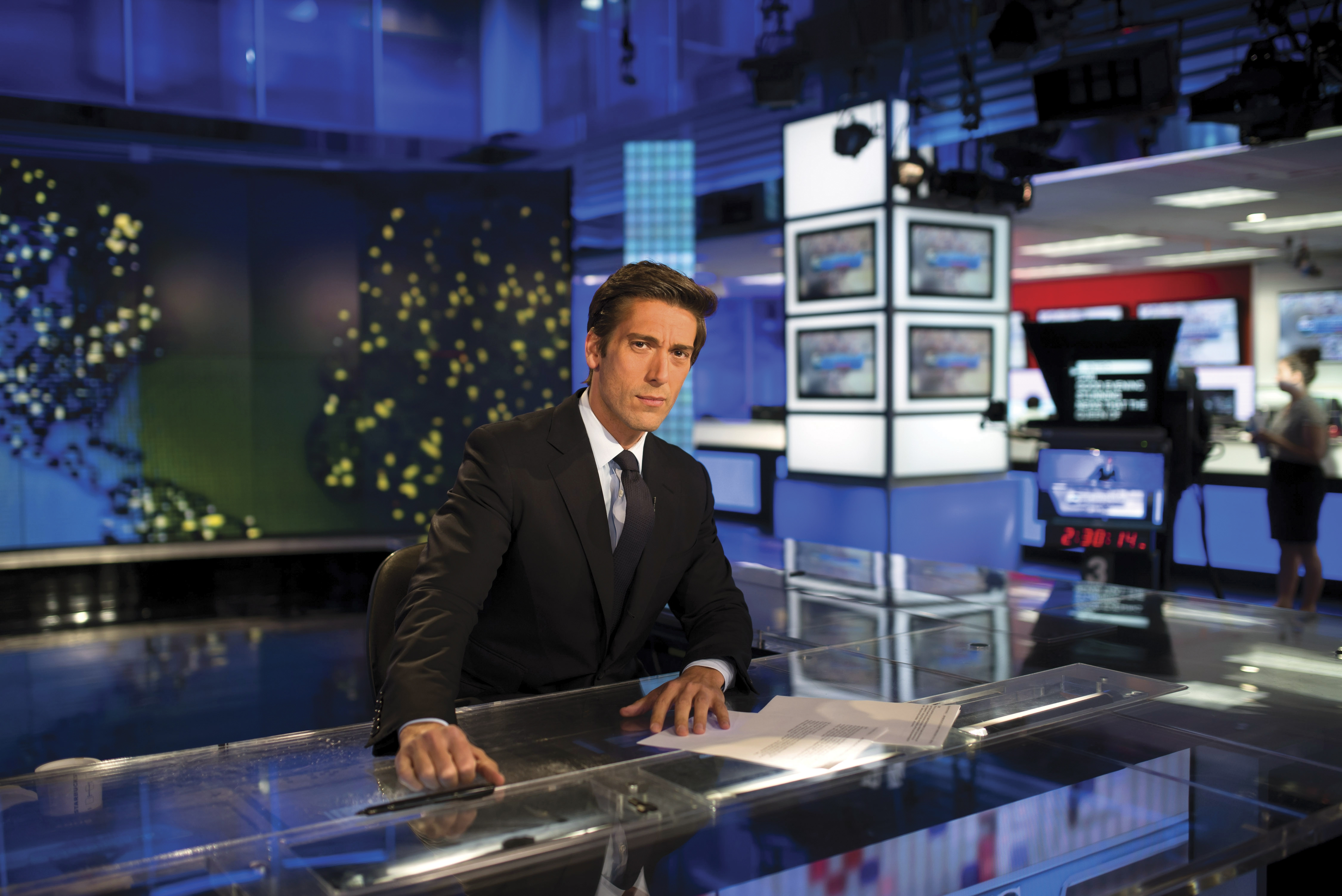 """At 40, David Muir of """"ABC World News Tonight,"""" will become the youngest national evening news anchor in 50 years, a hiring that represents the most aggressive attempt yet to find a nightly anchor for the modern era."""