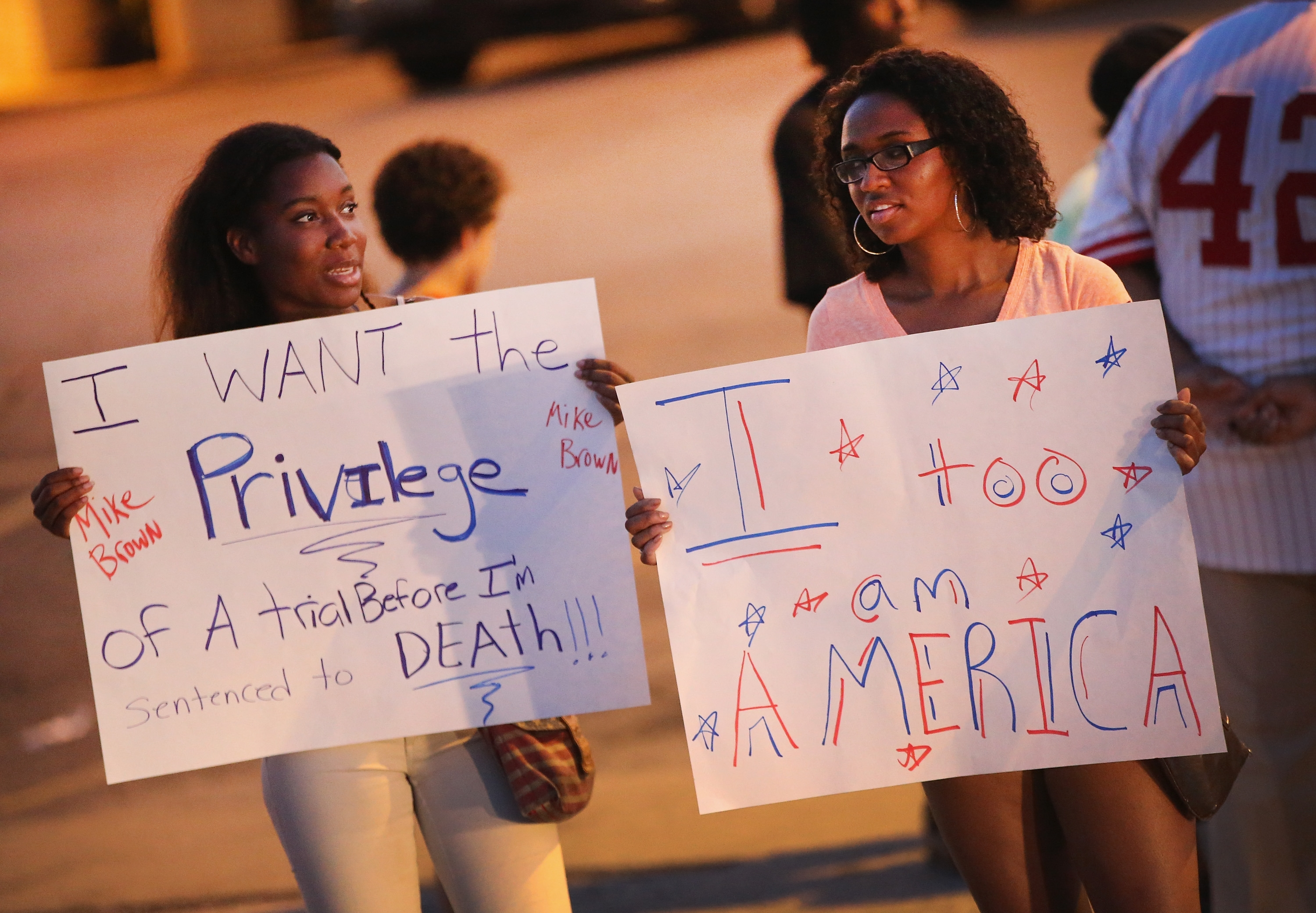 The killing of Michael Brown by an officer in Ferguson, Mo., has raised questions about policing practices across America. (Getty Images)
