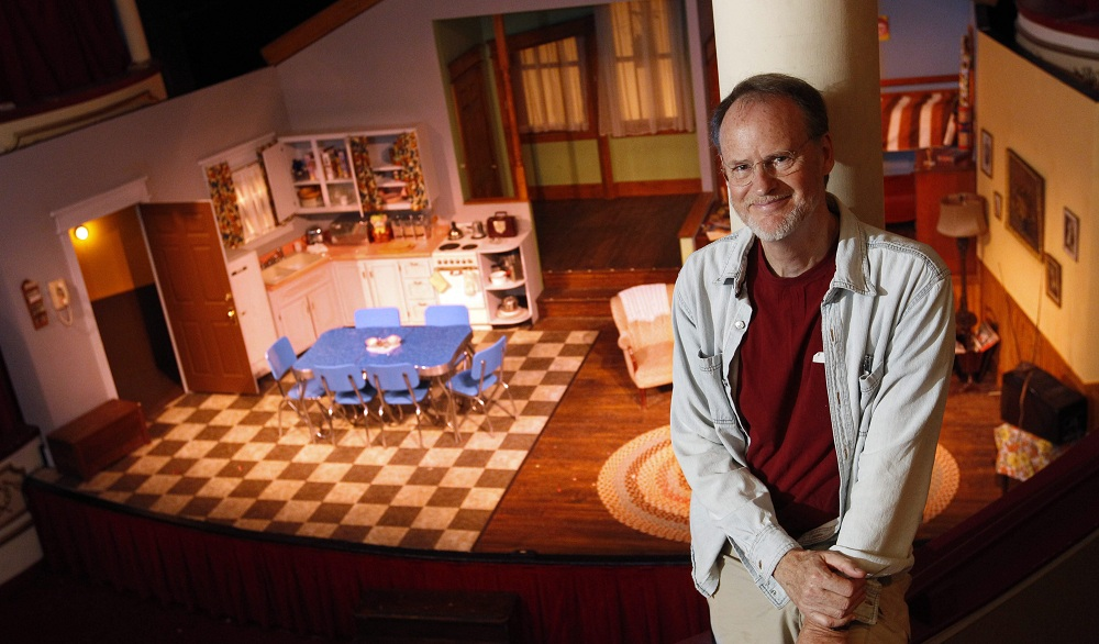 """Tom Dudzick is in town to direct his play """"Over the Tavern,"""" which is being staged at the Kavinoky Theatre. The play is celebrating its 20th anniversary. (Sharon Cantillon/Buffalo News)"""