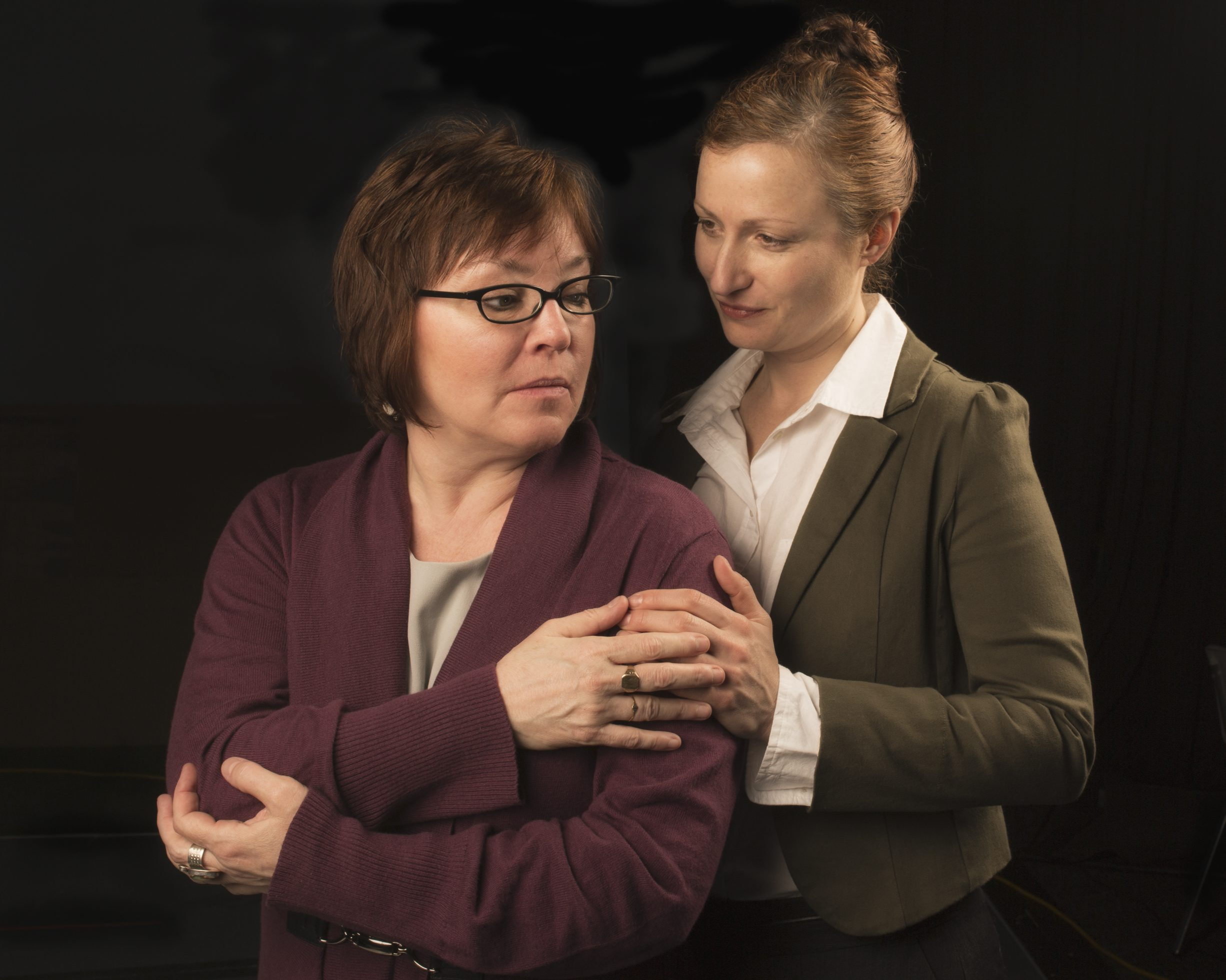 "Eileen Dugan and Kirsten Tripp Kelley appeared in Jewish Repertory Theatre's production of ""Body Awareness,"" part of their award-winning 2013-14 season."