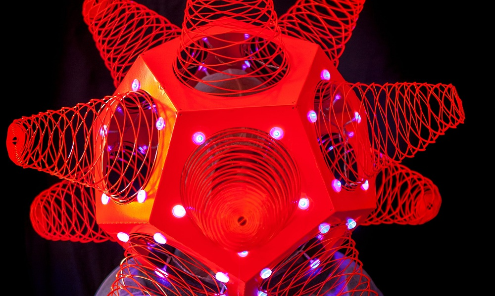 """Buffalo artist Shasti O'Leary Soudant's sculpture of the HIV virus from her """"HALFLIFE"""" project."""