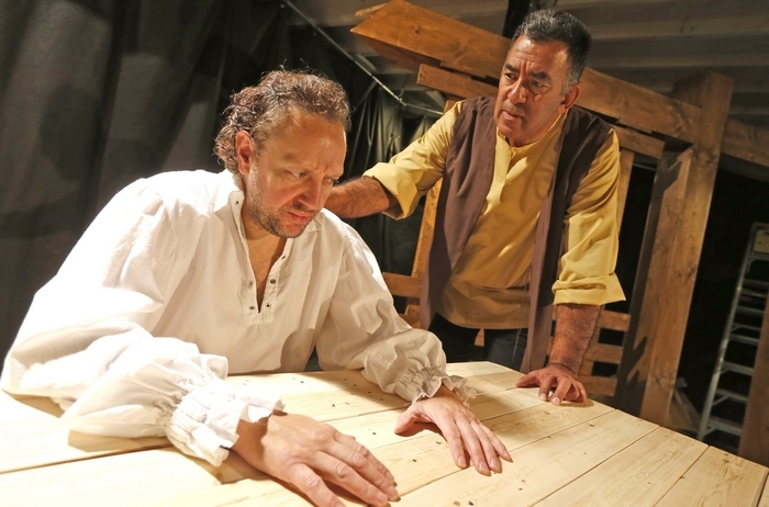"Thomas LaChiusa, left, and Victor Morales star in the American Repertory Theater of WNY's production of Arthur Miller's ""The Crucible."" (Robert Kirkham/Buffalo News)"