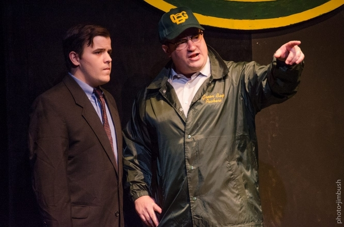 "Tim Goehrig, left, and Matt Witten star in MusicalFare Theatre's production of ""Lombardi"" in 710 Main Theatre."