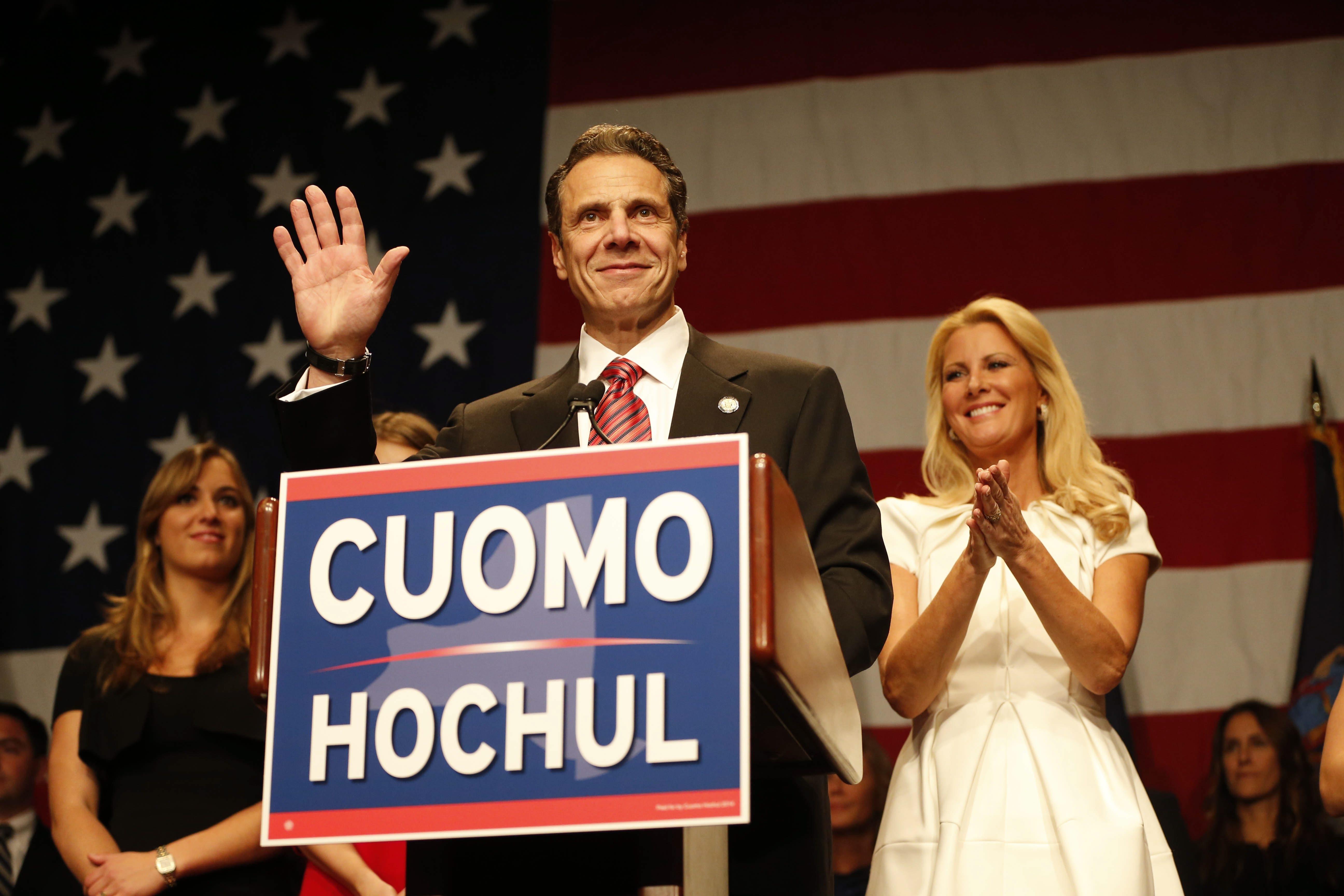 Gov. Andrew Cuomo speaks at the Sheraton New York Times Square in New York City, Tuesday, Nov. 4, 2014. (Derek Gee/Buffalo News)