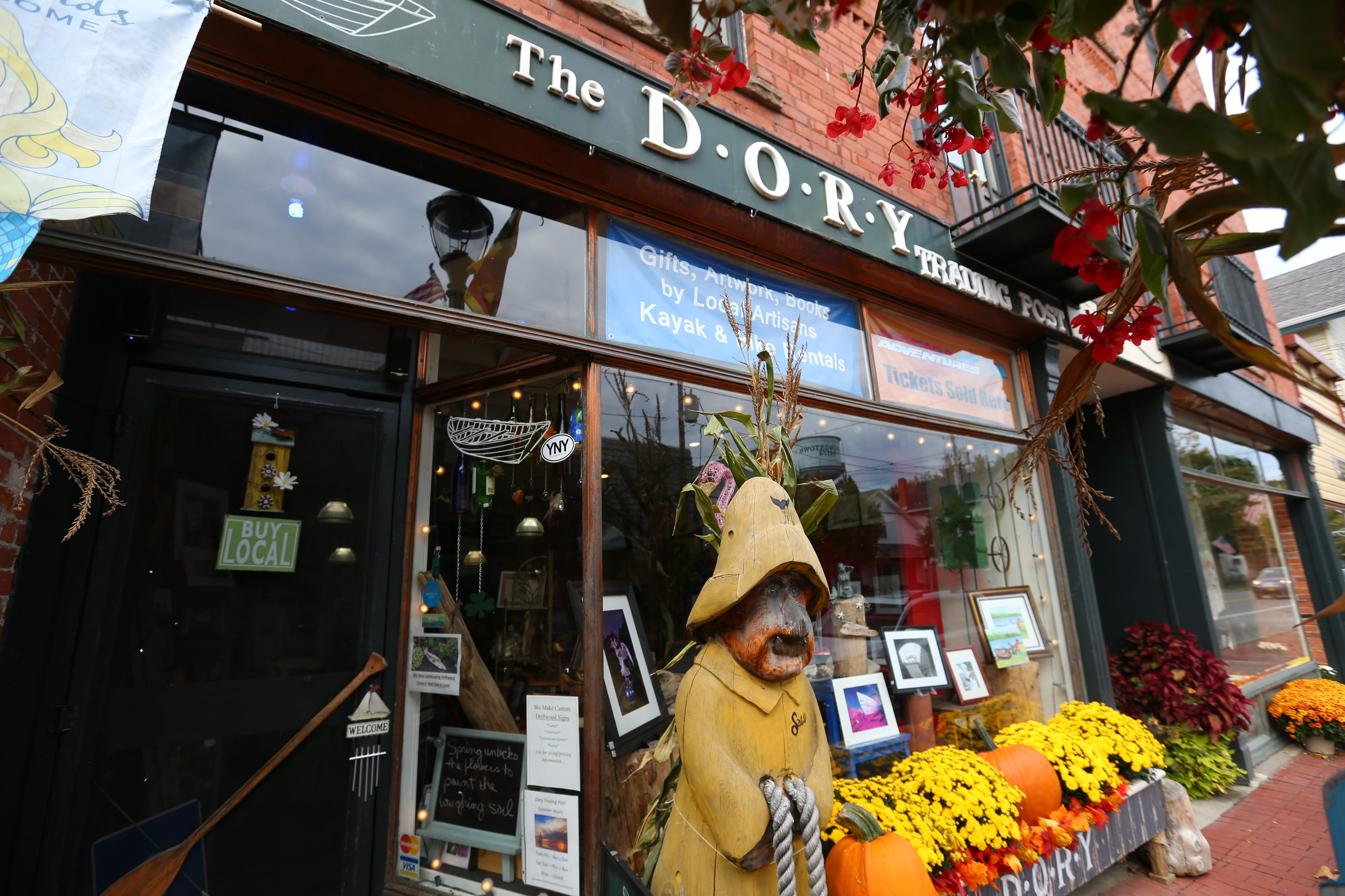 "The Dory Trading Post, where nearly everything on the shelves is created by local authors and artists, is located at 435 Main St. in Youngstown. One of the owners said, ""It's like an old country general store, where people sit and talk and just hang out."""