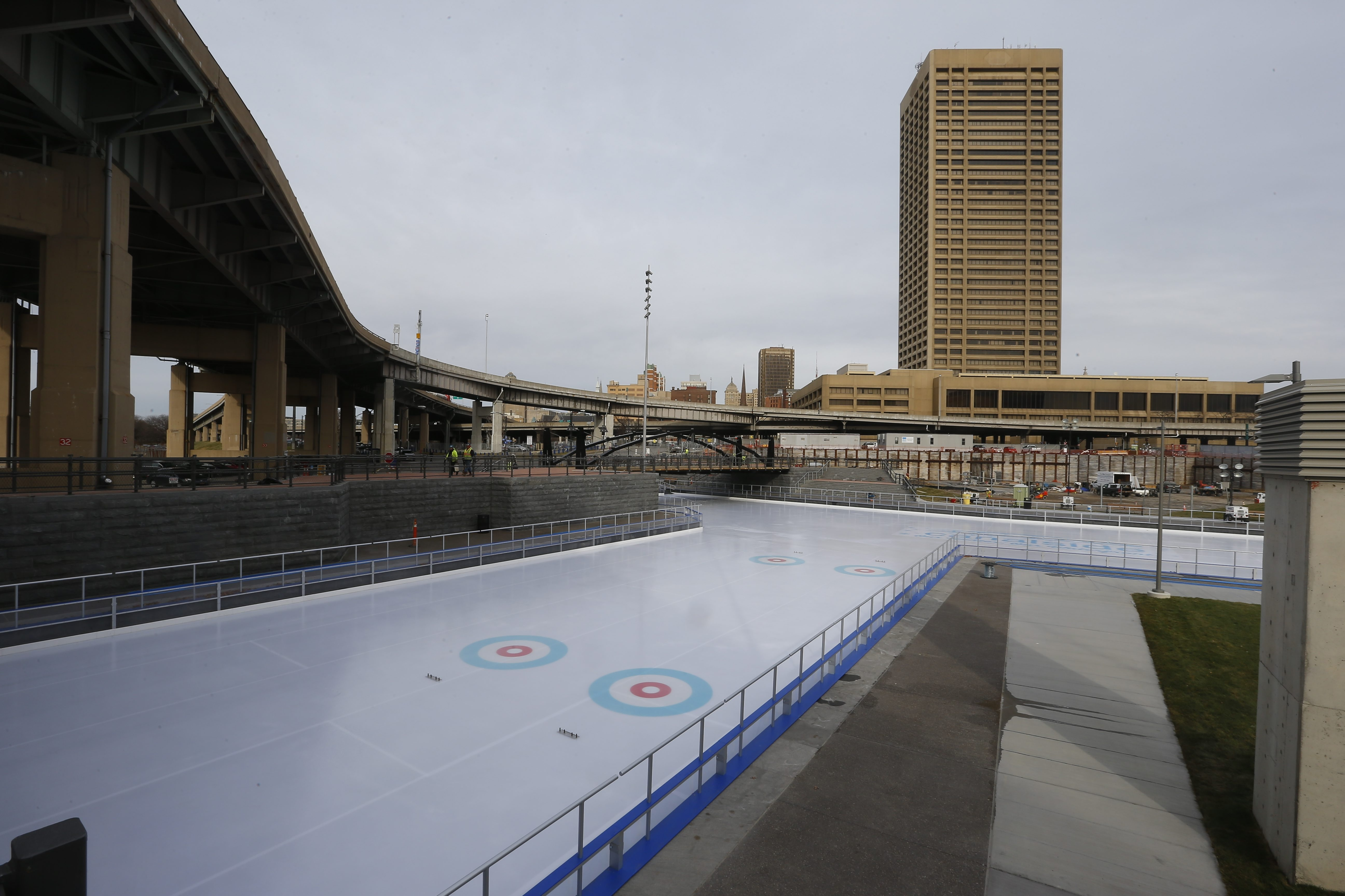 The site of the former War Memorial Auditorium is now home to a 37,000-square-foot ice surface.