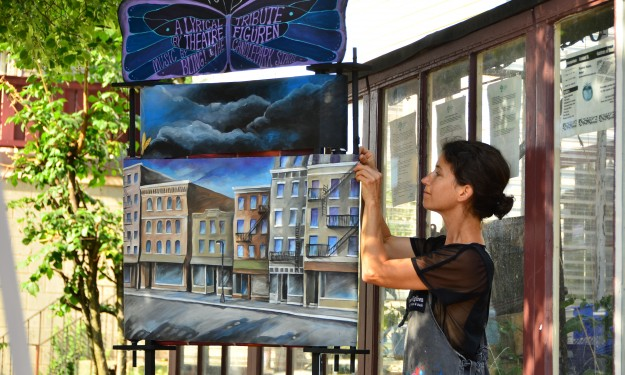 Puppeteer and artist Michele Costa brought viewers to tears with her civil rights presentation. during the 2014 Infringement Festival.